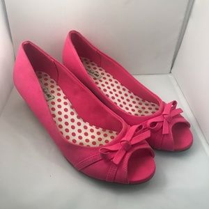 Pink American Eagle Wedge Shoes